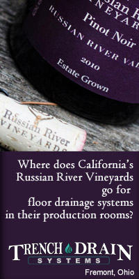 Winery drainage banner