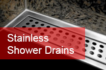 stainless shower drains