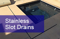 stainless slot drains