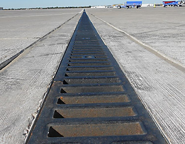 3000 Series trench drain on airport tarmac