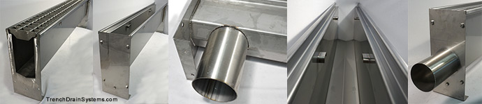 SS600 Stainless Trench Drain collage