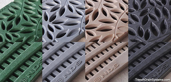Plastic grating for trench drain