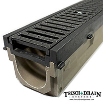 Trench drain systems farm barn drains for Residential trench drain systems