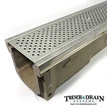 Polycast 600 w/stainless grate and edging