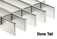 Steel bar grating  - dove tail