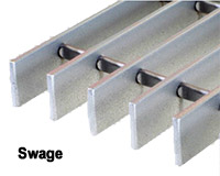 steel bar grating - swage